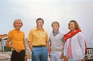 Paavo Turtiainen, Steven Weiss, Eric Steiner, Ingrid Bergman on Dannholmen